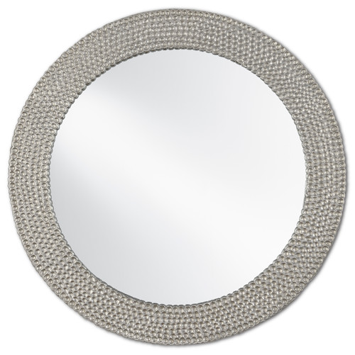 "23"" Currey and Company Rogan Silver Mirror - 1"