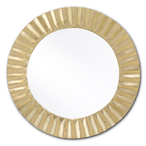 "16"" Currey and Company Carla Gold Small Mirror - 1"
