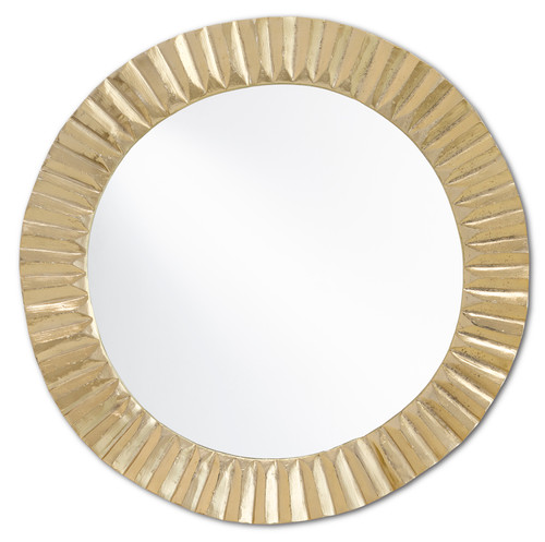 "24"" Currey and Company Carla Gold Large Mirror - 1"