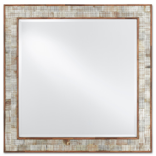 "26"" Currey and Company Hyson Square Mirror - 1"