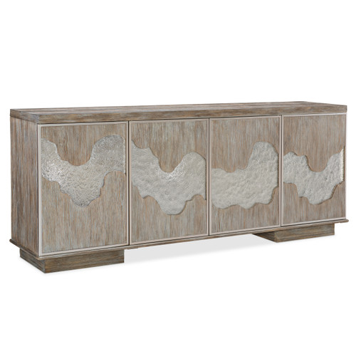 "Caracole 90"" Caracole Classic - Go With The Flow, Driftwood, Neutral Metallic-1"