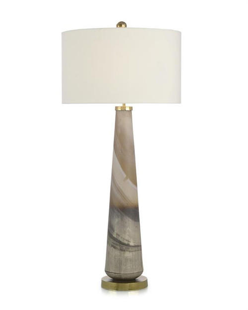 "41"" John Richard Furling Cream and Caramel Buffet Lamp - 1"