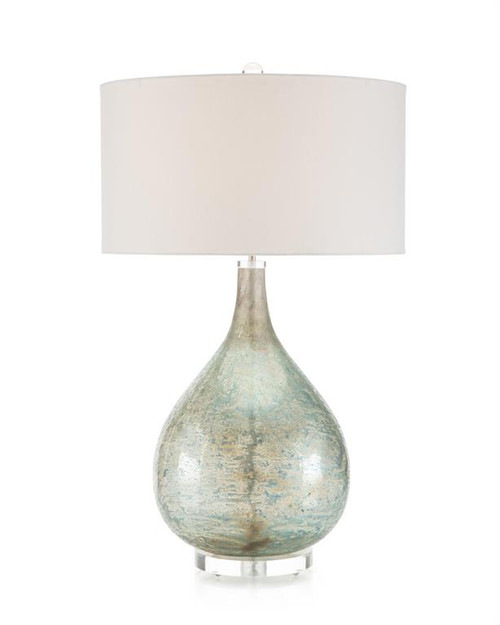 "35"" John Richard Deep Ocean Blue Table Lamp - 1"