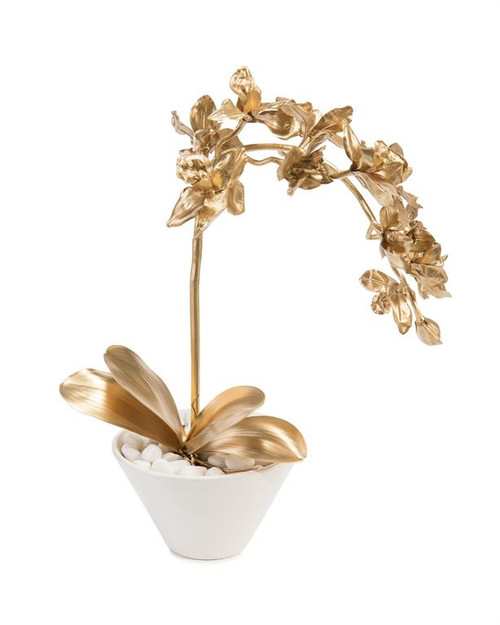 "24"" John Richard Gold on the Rocks Planter - 1"