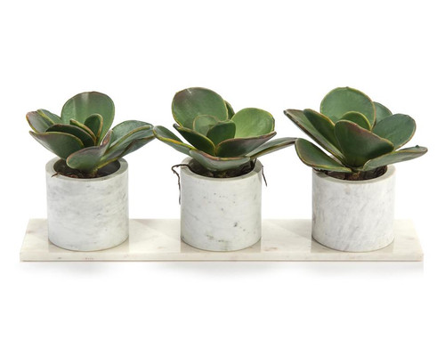 "24"" John Richard Marble Succulents Planter - 1"