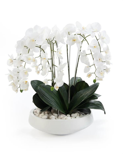 "29"" John Richard Extreme White Planter - 1"