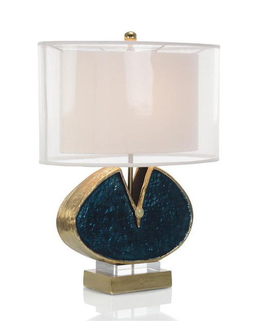 "25"" John Richard Blue Enameled and Jeweled Table Lamp - 1"