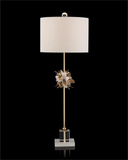 "37"" John Richard Organic Stones in Gold and White Buffet Lamp - 1"