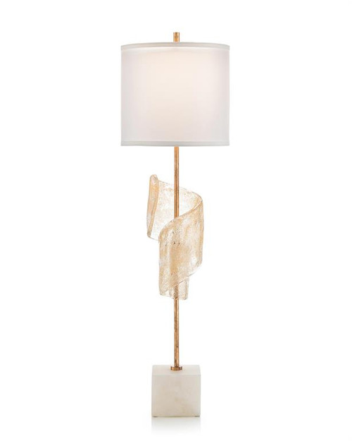 "40"" John Richard Furls with Hint of Gold Buffet Lamp - 1"