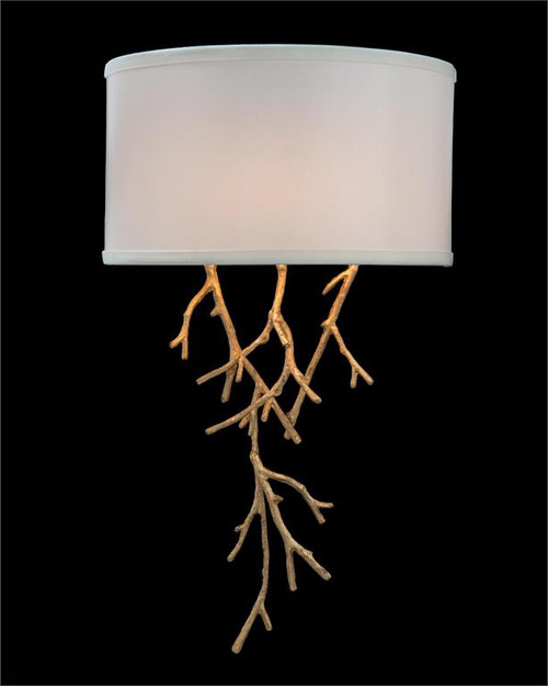 "21"" John Richard Prana Spiked Branch Single-Light Sconce - 1"