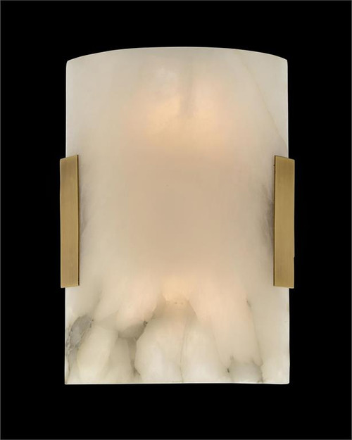 "13"" John Richard Curved Alabaster Wall Sconce - 1"