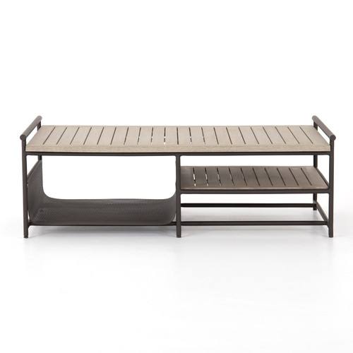 Ledger Outdoor Coffee Table-Washed Brown