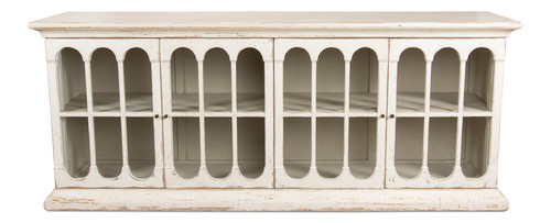 Sarreid 24 Arched Sideboard, Whitewash  -1