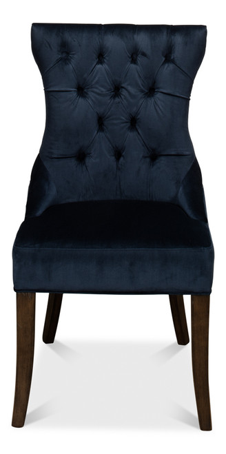 Sarreid Sophie Dining Side Chair - Blue Velvet - 1