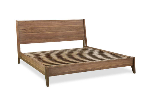 "ART Furniture Bobby Berk - 85"" 5/0 - 6/6 Linnet Platform Bed RS, Medium Oak -1"
