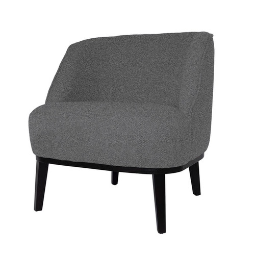 Round Loungechair With Brown Legs&Baqueira Fabric