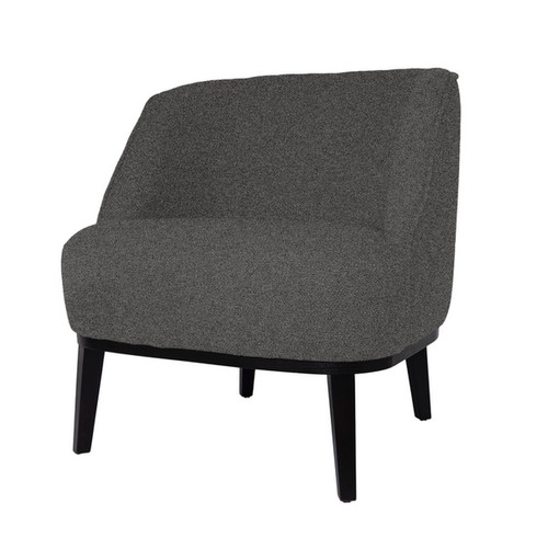 Round Loungechair With Brown Legs&Brema Fabric