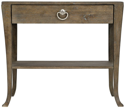 "Bernhardt 34"" Rustic Patina Nightstand (Peppercorn finish) -1"