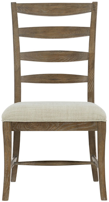 "Bernhardt 41"" Rustic Patina Ladderback Side Chair (Peppercorn finish) -1"