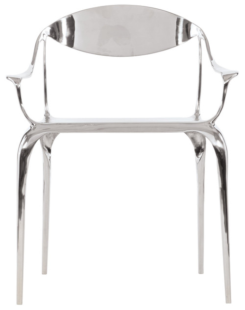 "Bernhardt 31"" Bernhardt Interiors Casegoods Vaughn Metal Arm Chair -1"