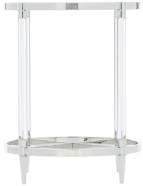 "Bernhardt 24"" Freestanding Occasional Celine Metal Round End Table -1"