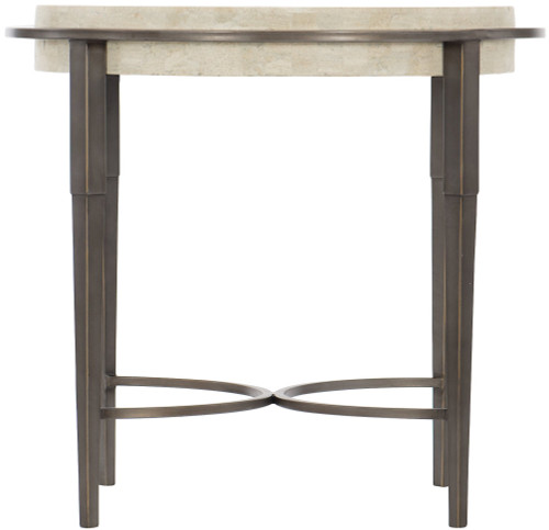 """Bernhardt 26"""" Freestanding Occasional Barclay Metal Round Chairside Table -1"""
