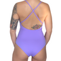 gaia amethyst purple full coverage one-piece swimsuit