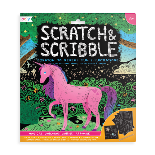 Scratch & Scribble: Magic Unicorns