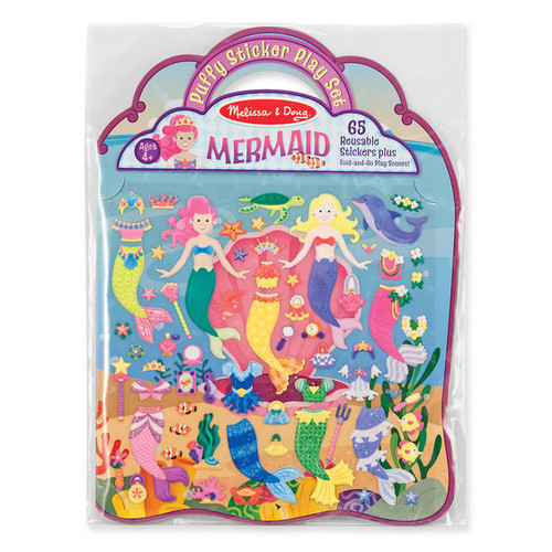 Puffy Sticker Play Set- Mermaids