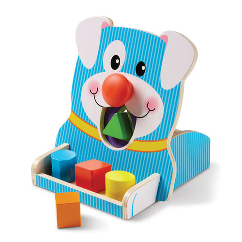 Melissa & Doug First Play Spin & Feed Shape Sorter