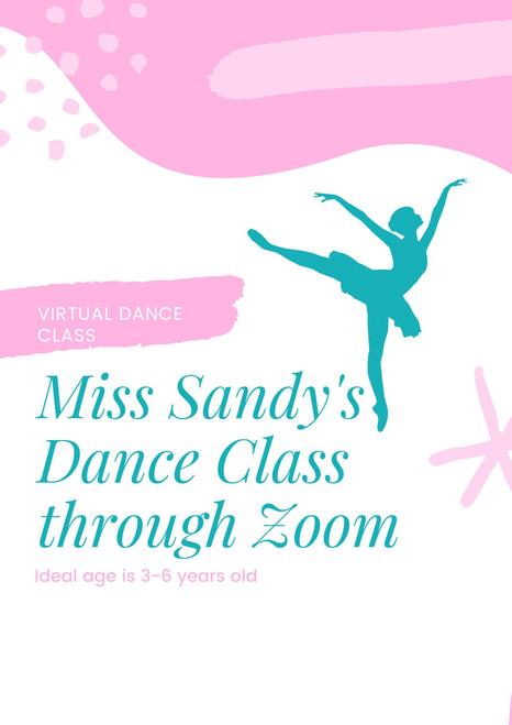 Virtual Dance Class for Children 3-8 years