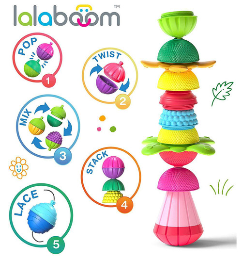 LaLaBoom Snap Beads 36 piece set