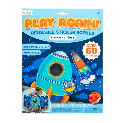 Ooly Play Again Reusable Sticker Space Set