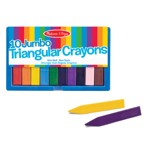 10 Jumbo Triangular Crayons