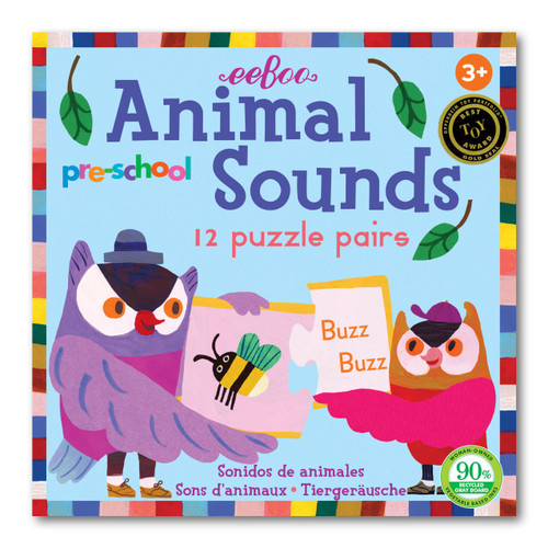 Animal Sounds Matching Puzzle Game Eeboo