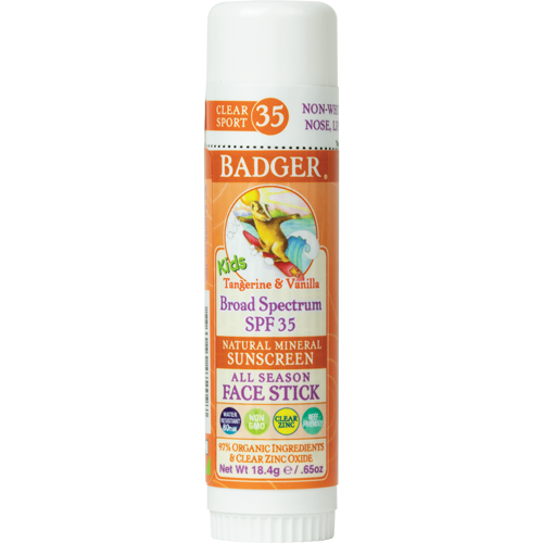 Kids Clear Badger Sunscreen Face Stick