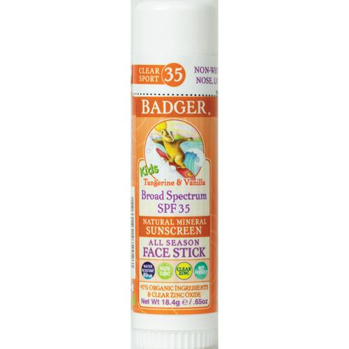 Kids Clear Badger Sunscreen Face Stick