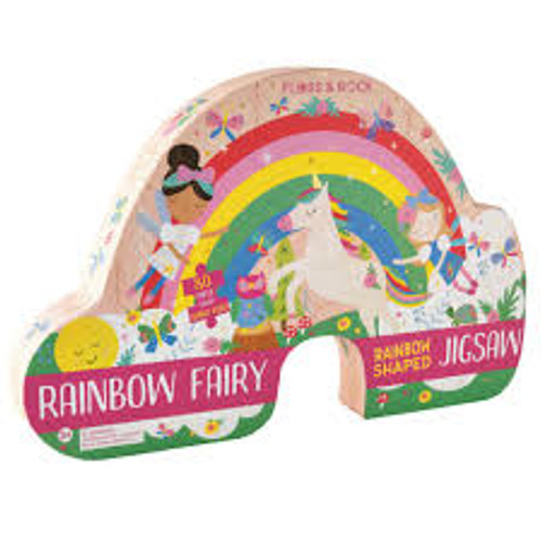 Floss & Rock Rainbow Shaped Jigsaw 80 Piece Puzzle