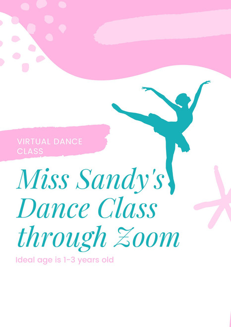 Virtual Dance Class for Children 1-3 years Tuesdays