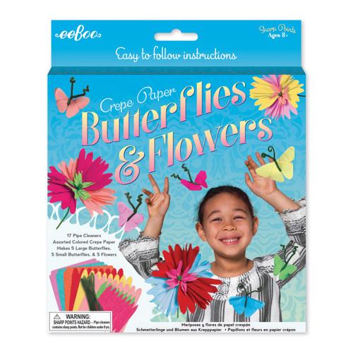 Crepe Paper Butterflies & Flowers