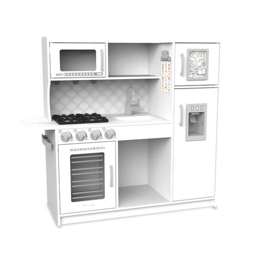 Chef's Wooden Kitchen in White