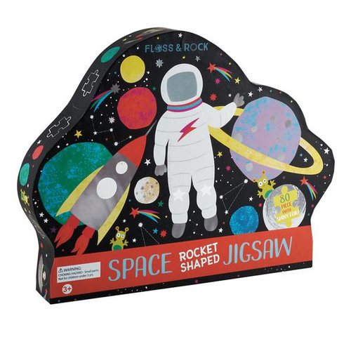 80Pc Rocket Shaped Space Puzzle