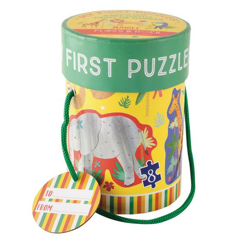 Jungle First Puzzles 3, 4, 6 & 8 Pc
