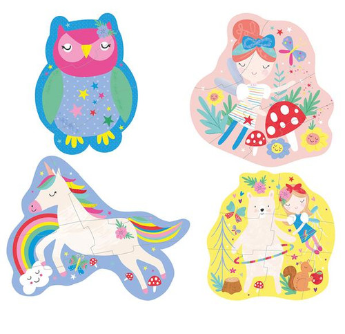 Rainbow Fairy First Puzzles 3, 4, 6 & 8 Pc