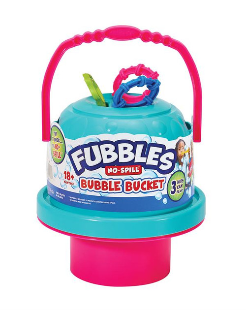 No Spill Bubble Bucket with 3 Wands