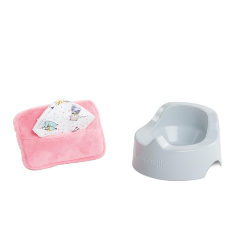 Corolle - Potty and Baby Wipe for 12-inch baby doll