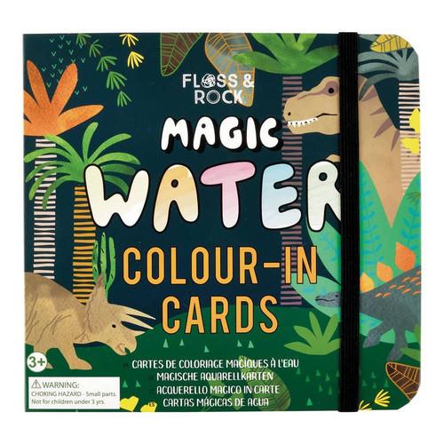 Floss & Rock Magic Water Cards -  Dinosaur