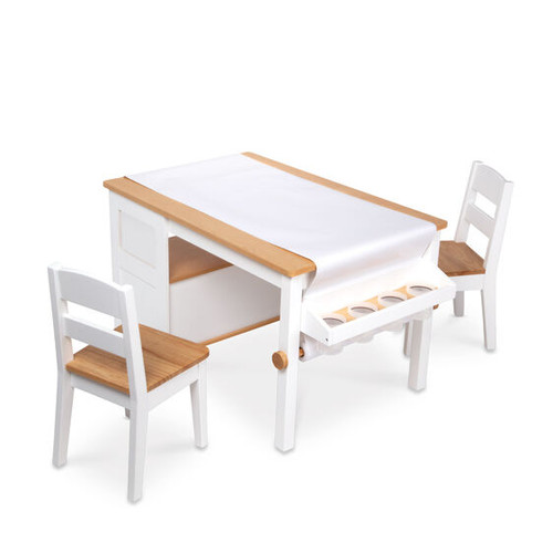 Wooden Art Table and Chairs Set