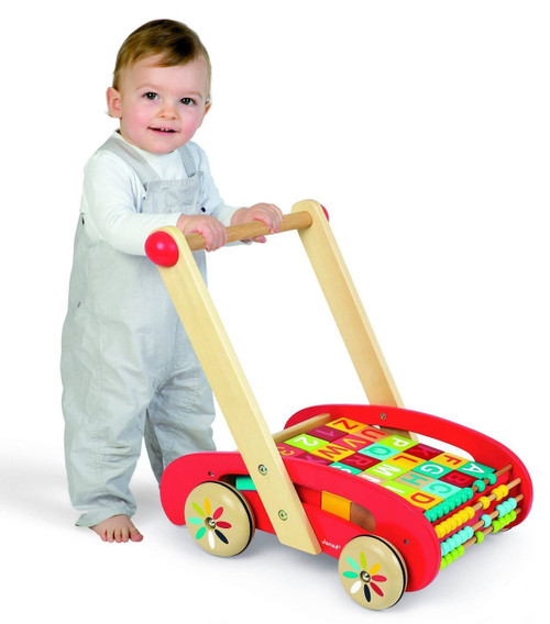 ABC Push Buggy Cart and Blocks