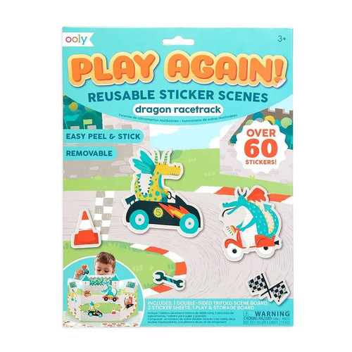 Ooly Play Again Reusable Sticker Scenes Dragon